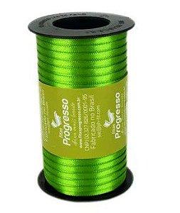 Fita de Cetim Carretel Progresso 4mm nº00 - 100m Cor 677 Verde Folha - 01 unidade - Rizzo Embalagens