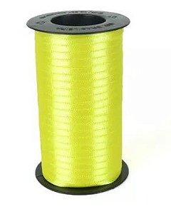 Fita de Cetim Carretel Progresso 4mm nº00 - 100m Cor 242 Amarelo Canário - 01 unidade - Rizzo Embalagens