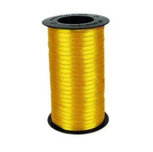 Fita de Cetim Carretel Progresso 4mm nº00 - 100m Cor 038 Amarelo Ouro - 01 unidade - Rizzo Embalagens