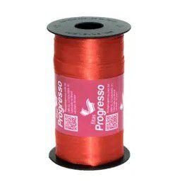 Fita de Cetim Carretel Progresso 6mm nº01 - 100m Cor 1354 Vermelho Tomate - 01 unidade - Rizzo Embalagens