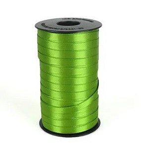 Fita de Cetim Carretel Progresso 6mm nº01 - 100m Cor 677 Verde Folha - 01 unidade - Rizzo Embalagens