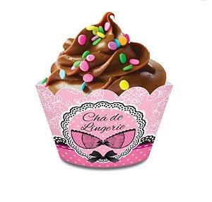Forminha Wrap para Cupcake Festa Chá de Lingerie - 12 unidades - Junco - Rizzo Festas