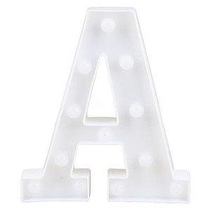 Letra LED Decoração Festa - A - 01 unidade - Rizzo Festas