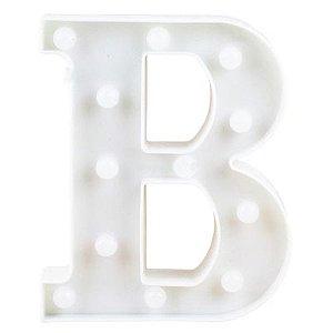 Letra LED Decoração Festa - B - 01 unidade - Rizzo Festas