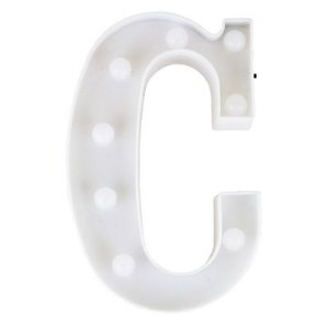 Letra LED Decoração Festa - C - 01 unidade - Rizzo Festas