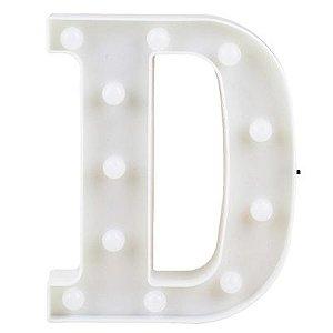 Letra LED Decoração Festa - D - 01 unidade - Rizzo Festas