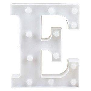 Letra LED Decoração Festa - E - 01 unidade - Rizzo Festas