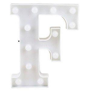 Letra LED Decoração Festa - F - 01 unidade - Rizzo Festas