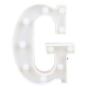 Letra LED Decoração Festa - G - 01 unidade - Rizzo Festas