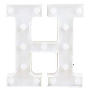 Letra LED Decoração Festa - H - 01 unidade - Rizzo Festas
