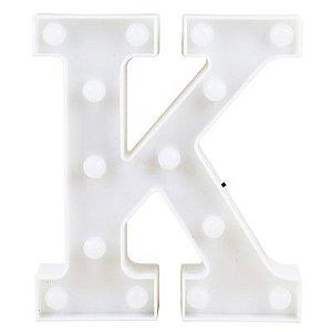 Letra LED Decoração Festa - K - 01 unidade - Rizzo Festas