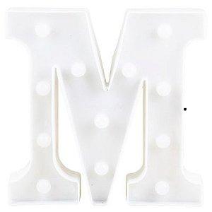 Letra LED Decoração Festa - M - 01 unidade