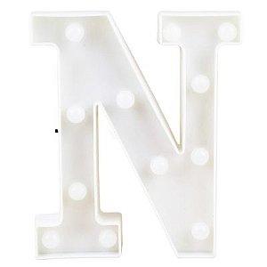 Letra LED Decoração Festa - N - 01 unidade - Rizzo Festas