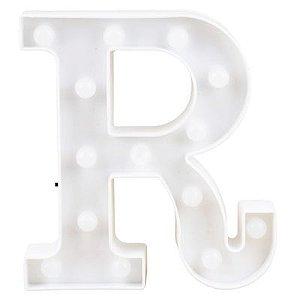 Letra LED Decoração Festa - R - 01 unidade - Rizzo Festas