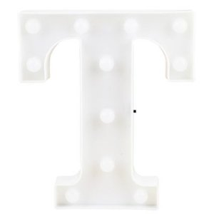 Letra LED Decoração Festa - T - 01 unidade - Rizzo Festas