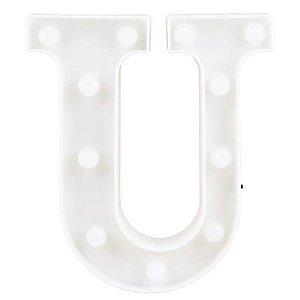 Letra LED Decoração Festa - U - 01 unidade - Rizzo Festas