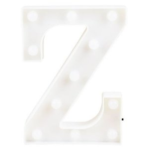 Letra LED Decoração Festa - Z - 01 unidade - Rizzo Festas