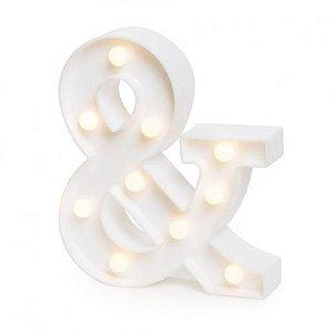 Símbolo LED Decoração Festa - & comercial - 01 unidade - Rizzo Festas