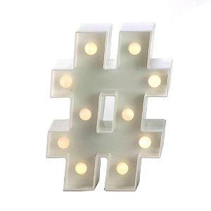Símbolo LED Decoração Festa - # hashtag - 01 unidade