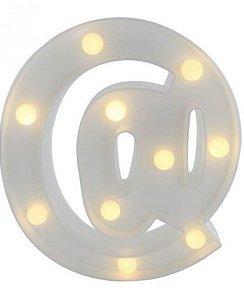 Símbolo LED Decoração Festa - @ arroba - 01 unidade - Rizzo Festas