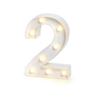 Número LED Decoração Festa - nº 2 - 01 unidade - Rizzo Festas