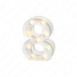 Número LED Decoração Festa - nº 8 - 01 unidade - Rizzo Festas