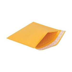 Envelope de Papel com Revestimento Plastico Bolha 20cm x 25cm - 05 Unidades - Rizzo Embalagens