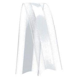 Fita de Voal com Cetim VCE003 15mm Cor 201 Branco - 10 metros - Progresso - Rizzo Embalagens