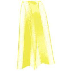 Fita de Voal com Cetim VCE003 15mm Cor 763 Amarelo Gema - 10 metros - Progresso - Rizzo Embalagens