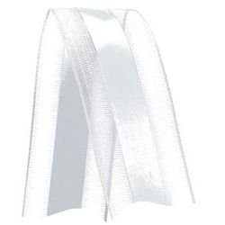 Fita de Voal com Cetim VCE005 22mm Cor 201 Branco - 10 metros - Progresso - Rizzo Embalagens