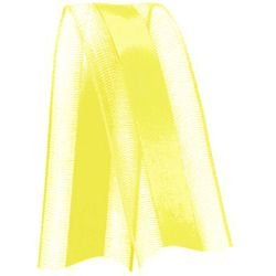 Fita de Voal com Cetim VCE005 22mm Cor 763 Amarelo Gema - 10 metros - Progresso - Rizzo Embalagens