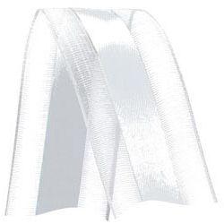 Fita de Voal com Cetim VCE009 38mm Cor 201 Branco - 10 metros - Progresso - Rizzo Embalagens