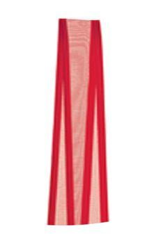 Fita de Voal com Cetim ZC003 15mm Cor 209 Vermelho - 10 metros - Progresso - Rizzo Embalagens