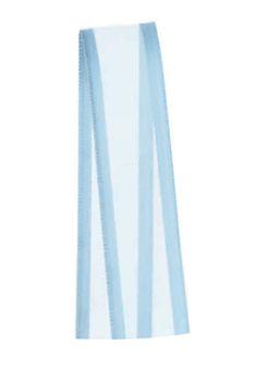 Fita de Voal com Cetim ZC003 15mm Cor 212 Azul Bebê - 10 metros - Progresso - Rizzo Embalagens