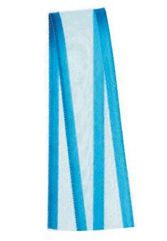 Fita de Voal com Cetim ZC003 15mm Cor 213 Azul Turquesa - 10 metros - Progresso - Rizzo Embalagens