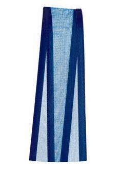 Fita de Voal com Cetim ZC003 15mm Cor 215 Azul Marinho - 10 metros - Progresso - Rizzo Embalagens