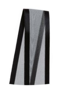 Fita de Voal com Cetim ZC005 22mm Cor 219 Preto - 10 metros - Progresso - Rizzo Embalagens
