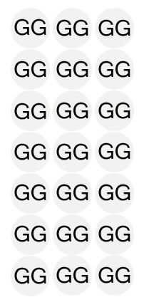 Etiqueta Adesiva Tamanho GG - 500 unidades - Massai - Rizzo Embalagens