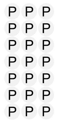 Etiqueta Adesiva Tamanho P - 500 unidades - Massai - Rizzo Embalagens