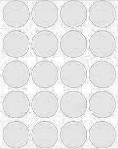 Etiqueta Adesiva Bolinha Preto Metalizado - 100 unidades - Massai - Rizzo Embalagens