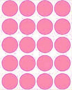 Etiqueta Adesiva Bolinha Rosa Metalizado - 100 unidades - Massai - Rizzo Embalagens