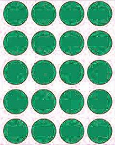 Etiqueta Adesiva Bolinha Verde Metalizado - 100 unidades - Massai - Rizzo Embalagens