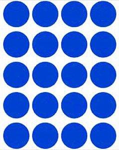 Etiqueta Adesiva Bolinha Azul Royal Metalizado - 100 unidades - Massai - Rizzo Embalagens