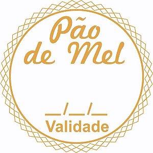 Etiqueta Pao de Mel Validade Modelo 1 - 100 unidades - Massai - Rizzo Embalagens