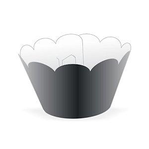 Mini Wrapper Mini Cupcake - Preto - 3cm x 14,5cm - 12 unidades - Nc Toys