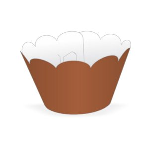 Mini Wrapper Mini Cupcake - Marrom - 3cm x 14,5cm - 12 unidades - Nc Toys