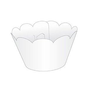 Mini Wrapper Mini Cupcake - Branco - 3cm x 14,5cm - 12 unidades - Nc Toys - Rizzo Embalagens