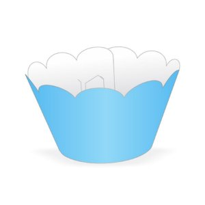 Mini Wrapper Mini Cupcake - Azul Claro - 3cm x 14,5cm - 12 unidades - Nc Toys
