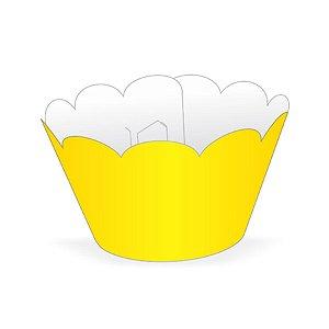 Mini Wrapper Mini Cupcake - Amarelo - 3cm x 14,5cm - 12 unidades - Nc Toys - Rizzo Embalagens