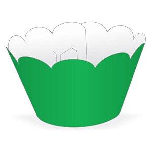 Wrapper Cupcake Tradicional - Verde Bandeira - 5cm x 22cm - 12 unidades - Nc Toys - Rizzo Embalagens